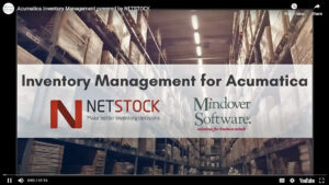 Inventory management for Acumatica with NETSTOCK VIDEO