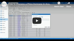 How to Process a Price Increase in Acumatica VIDEO