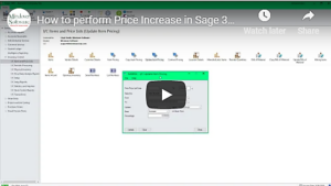 How to Process a Price Increase in Sage 300 VIDEO
