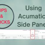 Using Acumatica Side Panels